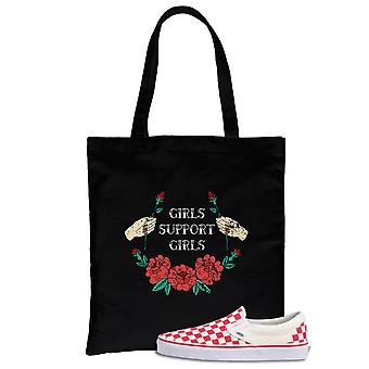 Girls Support Girls Urban Style Canvas Bag