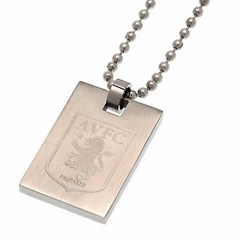 Aston Villa FC Crest Dog Tag & Chain