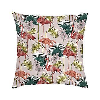 Gardenista Koristeellinen puutarhatyynynpäällinen 45x45 cm | Vedenpitävä ulkouima tyynynpäälliset | Pehmeä vesi - kestävä kangas kestävyys | Flamingo Kokoelma Gardens (Design)