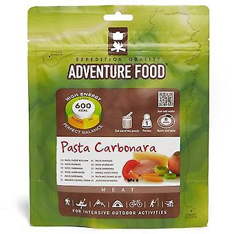 Új kaland élelmiszer tészta carbonara étkezés kemping túrázás élelmiszer szürke
