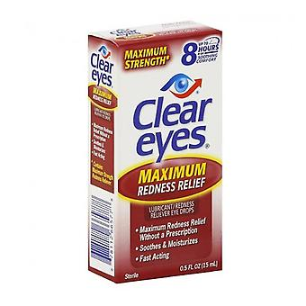 Clear eyes maximum redness relief eye drops, 0.5 oz
