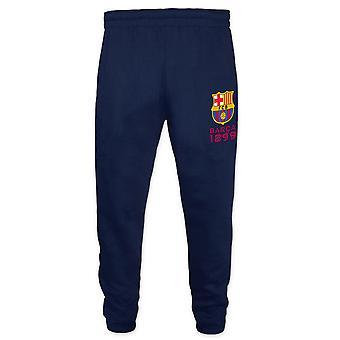 FC Barcelona Official Football Gift Boys Slim Fit Fleece Joggers Jog Pants