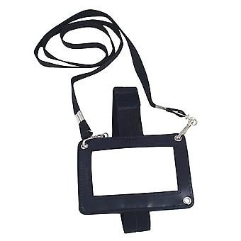 Viper TACTICAL 3-Way I.D. Holder and Removable Lanyard Leather Effect Black