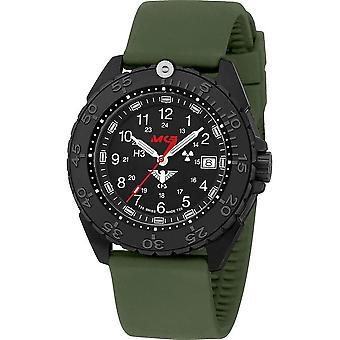 KHS Wristwatch الرجال المنفذ الأسود الصلب CR KHS. ENFBSCR. الشمس