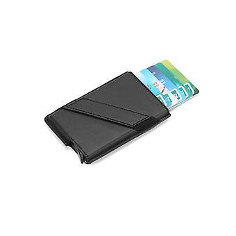 Pop-up-kortholder med signalblokering - RFID-kortkasse - sort