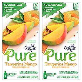 Crystal Light Pure Tangerine Mango Drink Mix 2 Box Pack