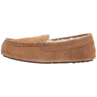 Amazon Essentials kvinners skinn Moccasin tøffel, Chestnut, 8 M US
