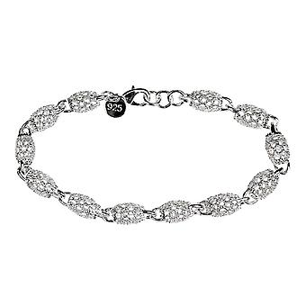 Bracelet with Oval Balls - Silver