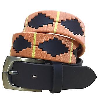 Carlos diaz unisex brun læder polo bælte cdpbhk19