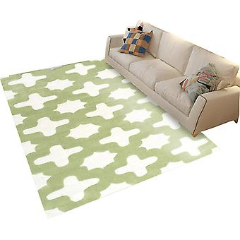 Square polyester fiber rug Simple geometric printed carpet Multifunctional carpet for bedroom and living room