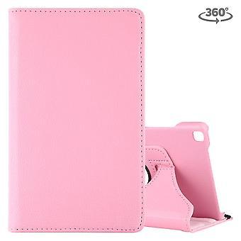 Voor Samsung Galaxy Tab A 8,0-inch (2019) case, roterende PU lederen cover met standaard, roze