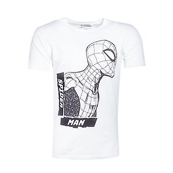 Offizielle Spider-Man Side View Spidey White Men's T-shirt