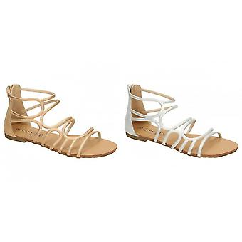 Paikalla naisten/naisten nahka Strappy-sandaali