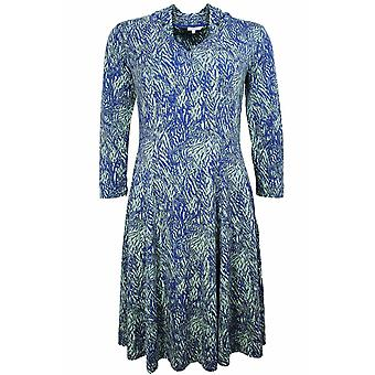 Sandwich Clothing Blue & Green Patterned Dress