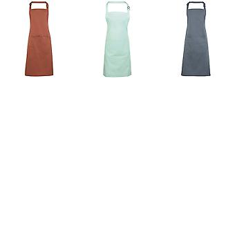 Premier Ladies/Womens Colours Bip Apron With Pocket / Workwear (Pack of 2)
