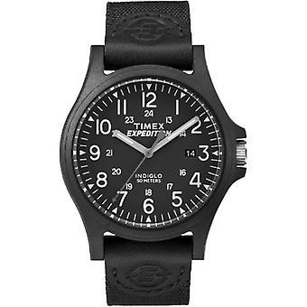 Tw4B08100, Orologio Timex Mens Tw4B08100 Expedition Arcadia Black Fabric Strap