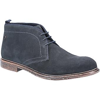 Base London Mens Jasper Suede Lace Up Boot Navy