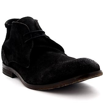 Mens H By Hudson Osbourne Suede Ankle High Smart Casual Chukka Boots