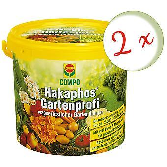 Sparset: 2 x COMPO Hakaphos professionnel du jardin, 5 kg