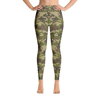 Workout Leggings | Yoga Leggings | Camouflage | Green Camouflage #2