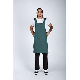 The #9002 cross back apron - green