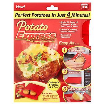 Kartoffel ekspres-kartoffel i en mikrobølgeovn