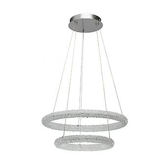 Chrome Designer Pendant Lamp Crystal 150 Cm