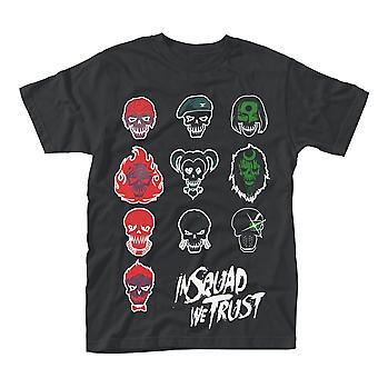 Suicide Squad In Squad Faces Official Tee T-Shirt Mens Unisex