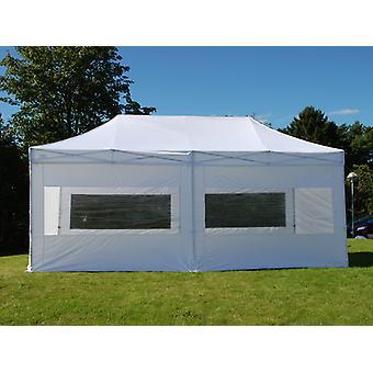 Tente Pliante FleXtents PRO 3x6m Blanc, avec 6 cotés