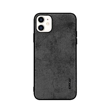 Voor iPhone 11 Case Fabric Texture Soft Slim Protective Fashionable Cover Zwart