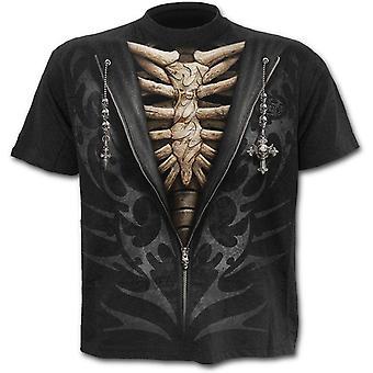 Spiraal-uitgepakt-mannen korte mouw t-shirt, zwart