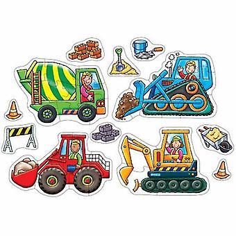 Boomgaard speelgoed puzzels van grote wielen