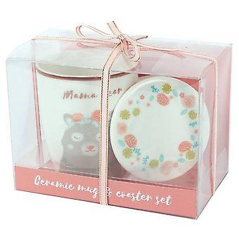 Something Different Bohemian Babe Mama Bear Mug and Coaster