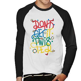 Twister Dont Get It Twister Men's Baseball Long Sleeved T-Shirt