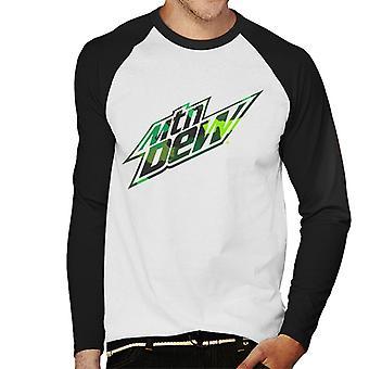 Mountain Dew Camouflage Design Men's Baseball Long Sleeved T-Shirt