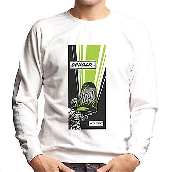Mountain Dew Behold Comic Strip Men's Sweatshirt