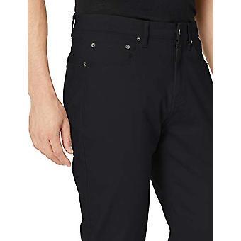 Pantalone in twill stretch a 5 tasche Essentials Athletic-Fit, nero, 29W x 34L