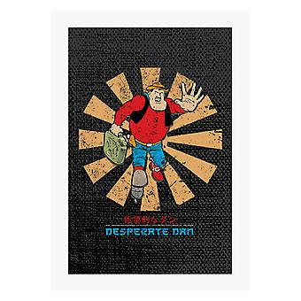 Desperate Dan Retro Japanese A4 Print
