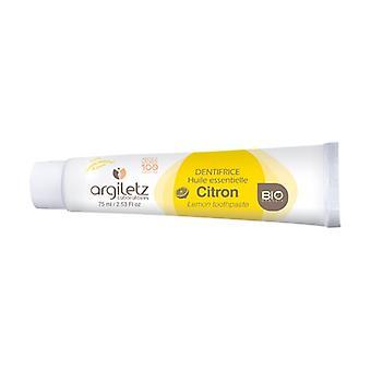 Creme dental com limão orgânico 75 ml (Limão)