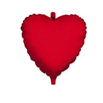 """Μπαλόνι φύλλων αλουμινίου σε σχήμα καρδιάς 18""""/45cm - Κόκκινο"""