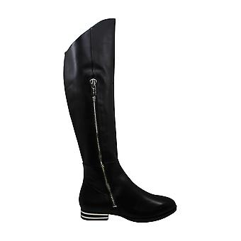 DKNY Womens LoLita Leather Almond Toe Knee High Riding Boots