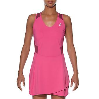 Asics naisten motiondry hihaton urheilu sisäänrakennettu shortsit tennismekko - vaaleanpunainen