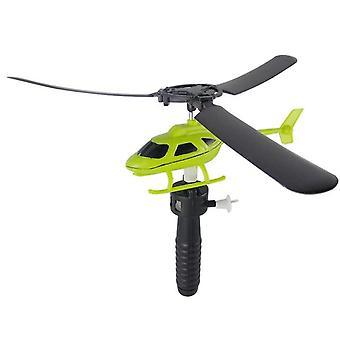 Helicopter Outdoor Toy - Helicopter Toy, Pull String Handle Helicopter