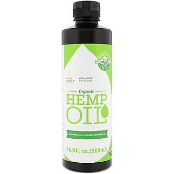 Manitoba Harvest, Certified Organic Hemp Oil, 16.9 fl oz (500 ml)