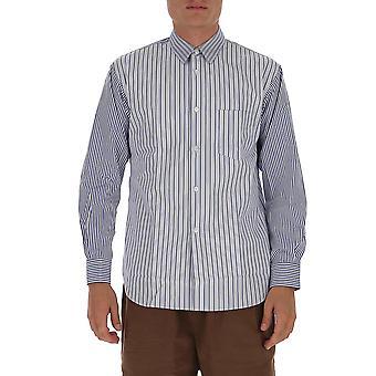 Comme Des Garçons Shirt Fo10b2022 Heren's Blauw Katoenen Shirt