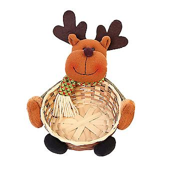 Christmas Candy Storage Basket Fruits Container Basket Elk Style