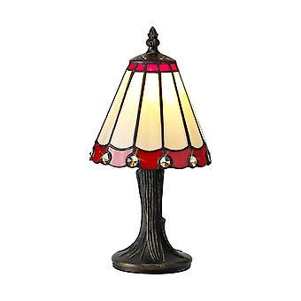 Luminosa-valaistus - Tiffany Pöytävalaisin, 1 x E14, Punainen, Kirkas kristallivarjostin