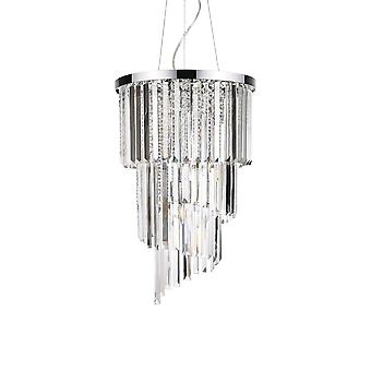 8 Light Ceiling Pendant Chrome, E14