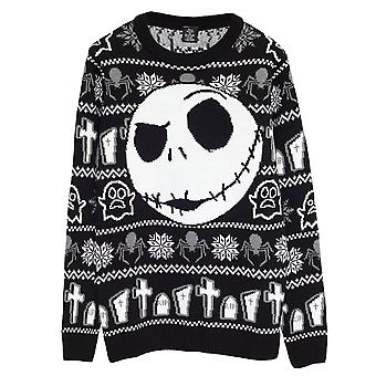 Disney The Nightmare Before Christmas Jack Face Women's Knitted Jumper | Official Merchandise