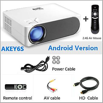 Full Hd Projector Akey6/s 6800 Lumens Home Cinema(optional Android 6.0 Wifi) Hdmi Vga For Gym